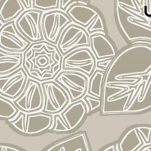 ASTER Carta da Parati a Fiore Stilizzato