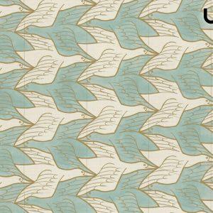 M.C.ESCHER - TWO BIRDS -Carta da Parati in Vinilico su TNT